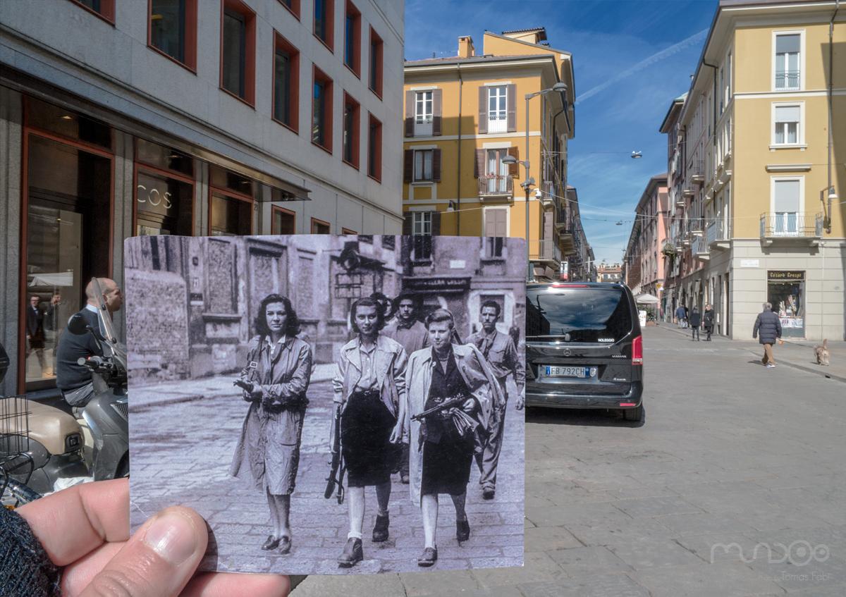 Donne partigiane - Liberazione di Milano 1945