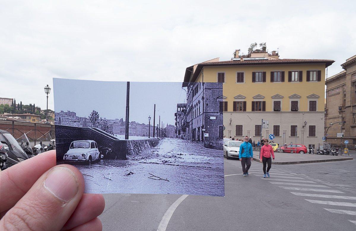 Alluvione Firenze Lungarno 1966