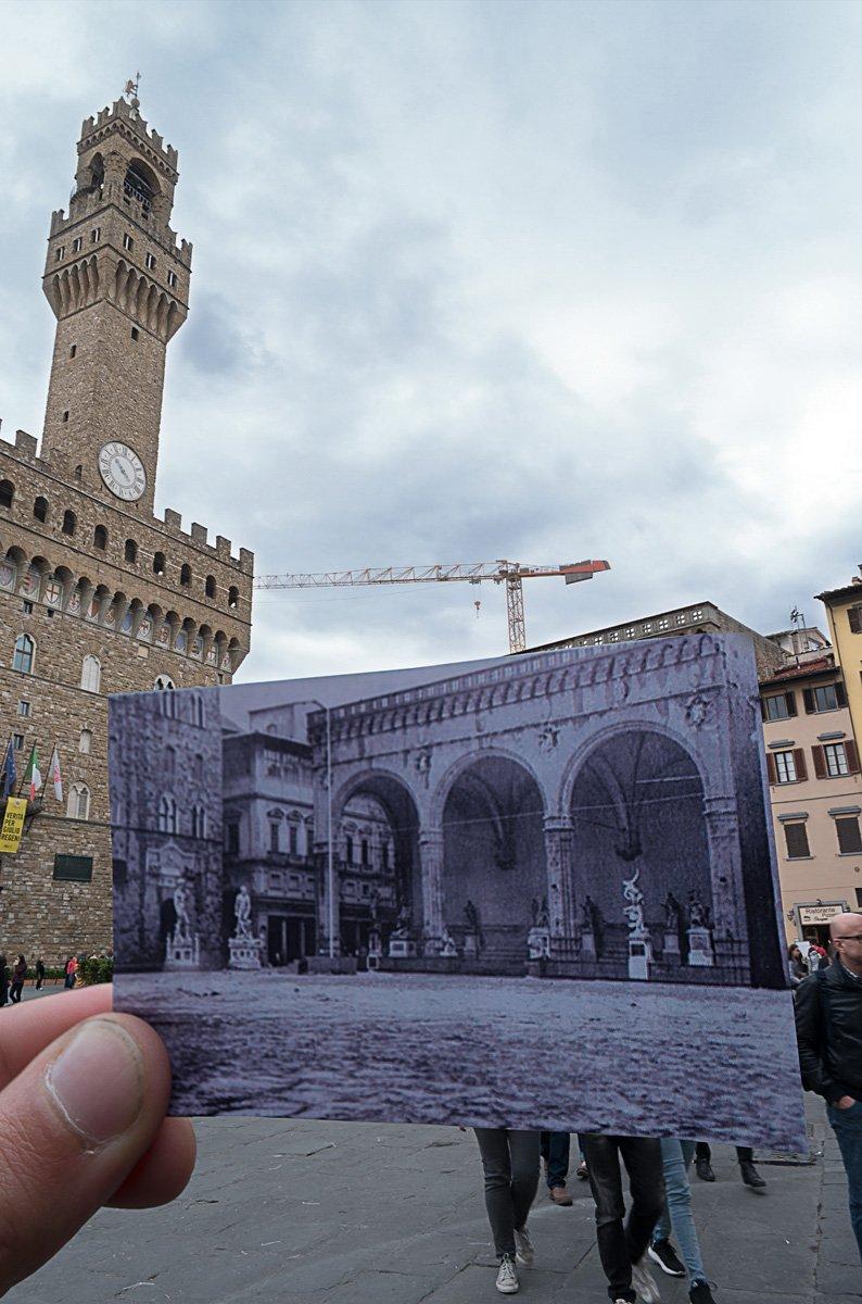 Alluvione palazzo della Signoria Firenze 1966